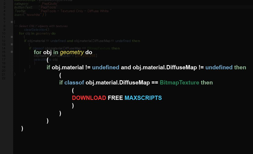 Various FREE Maxscripts part3